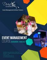 EVENT MANAGEMENT TRAINING