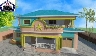 Two story building  plan for sale