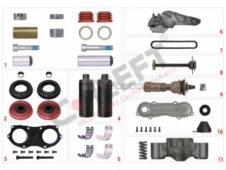 Air Disc Brake Caliper Repair Kits