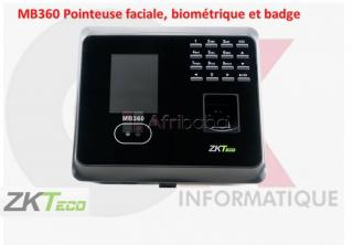 MB360 Pointeuse faciale, biométrique et badge