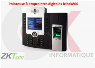 Pointeuse à empreintes digitales Iclock800