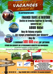 Promotion vacances a nosy-be