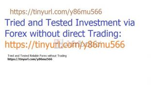 Investment in Forex without Trading
