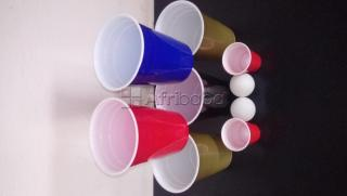 American Red, Blue, Black and Gold party cups