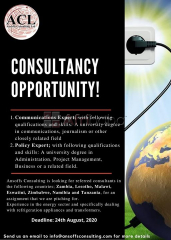 Consultancy Opportunity