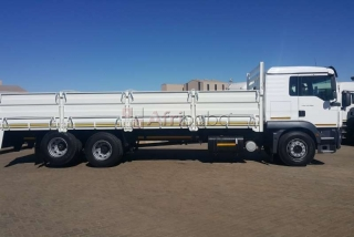 Man dropside tgs   with dropside truck