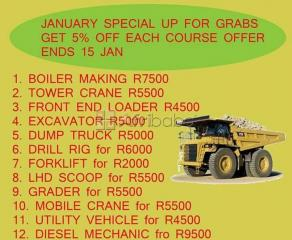 Machines training TLB Grader Excavator Dump truck workshop course