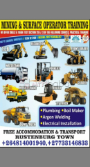 Dump truck excavator grader mobile crane machines training school.