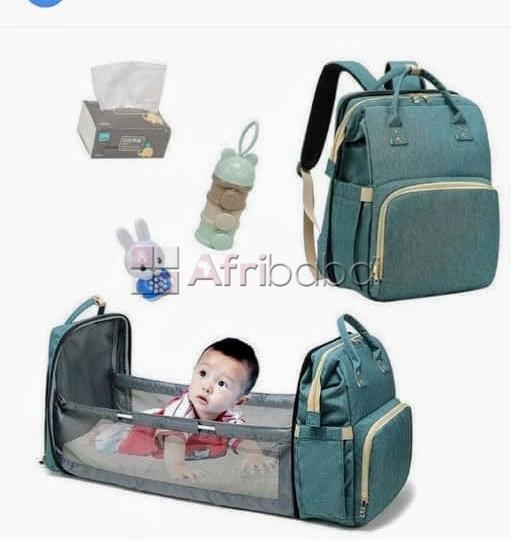 Baby Multifunctional Diaper Bag. It also serves as a Cot