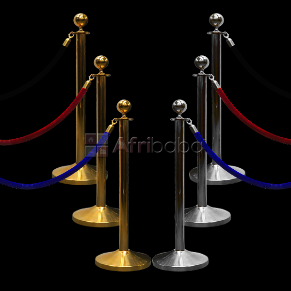 Stanchion crowd control queue barrier post