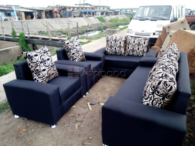 We sell quality leather and fabric 7 seater sofa (call or whatsapp ) #1