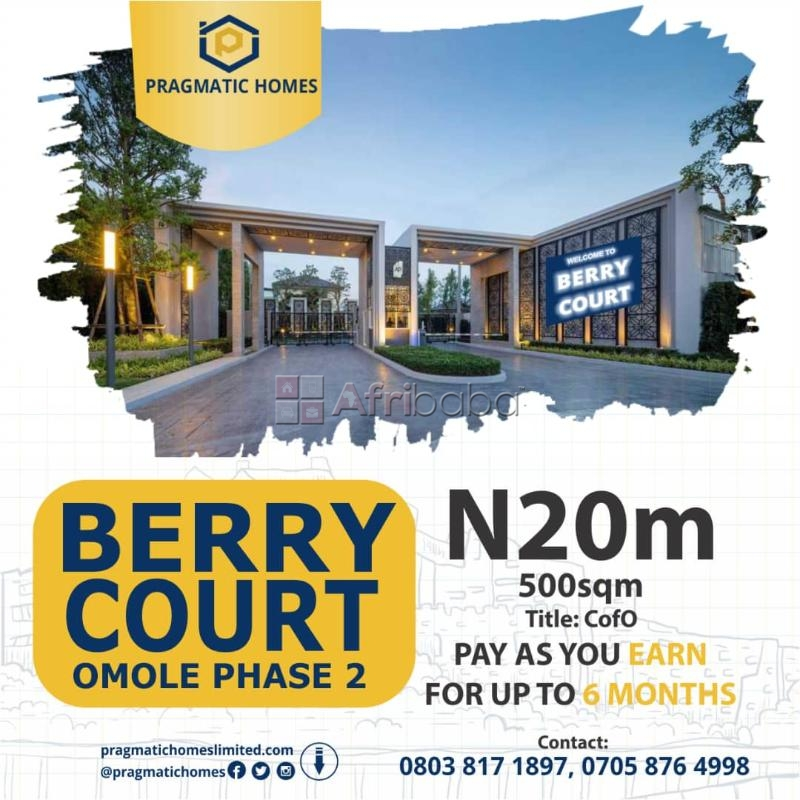 Ongoing promo at berry court, omole phase 2 extension #1