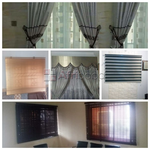 For sale: windows blinds and curtains (we also install)