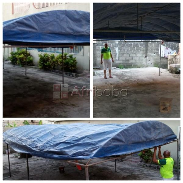15 by 30 feet canopy built with galvanized iron for in lagos