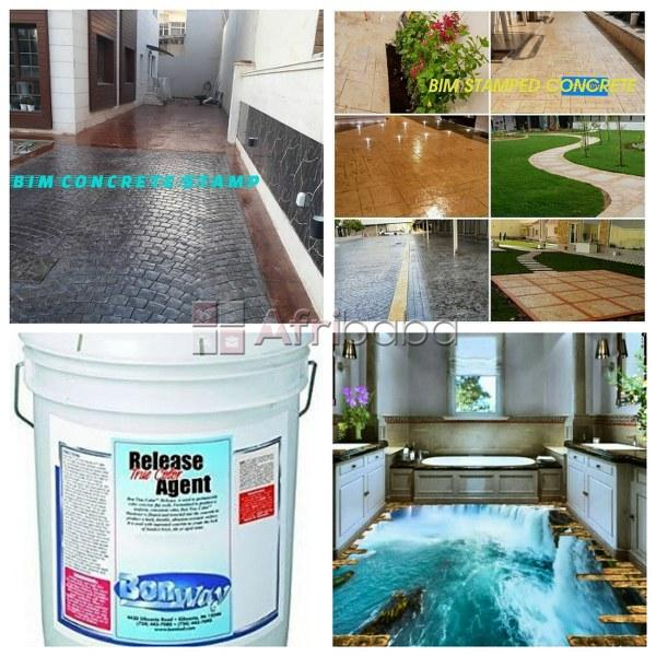 Professional 3d epoxy floor, stamps concrete and floor tiles