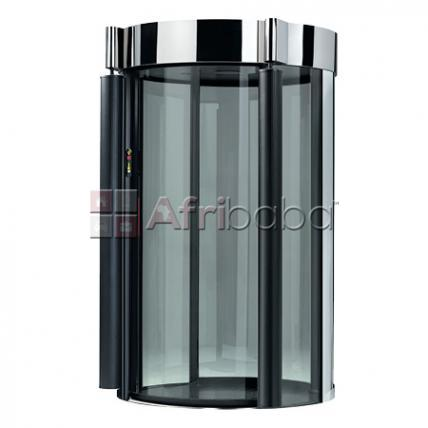 Bank man trap security booth door installation system
