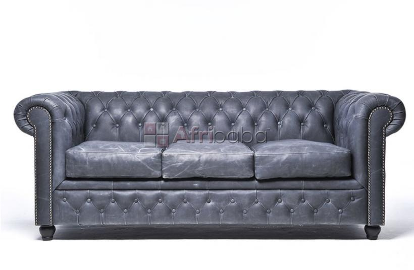 Sofa Chesterfield vintage black #1