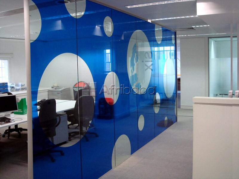 Glass branding and installation