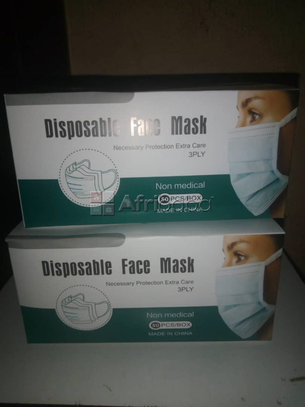 We sell 3ply disposable face mask  (call or whatsapp -  ) #1
