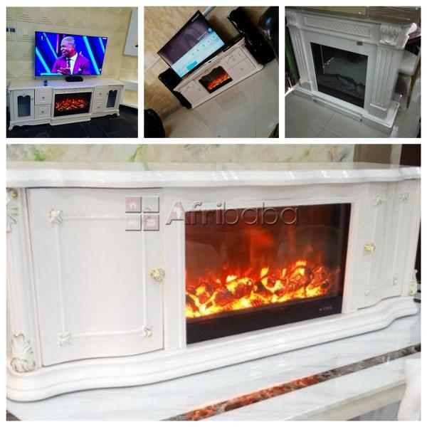 Quality executive fireplace tv stand available for delivery - call now