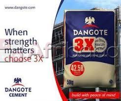 Buy cheap dangote 3x cement at low factory price of #900/bag