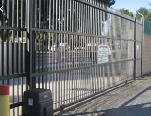 Automatic self opening gate. We supply and install
