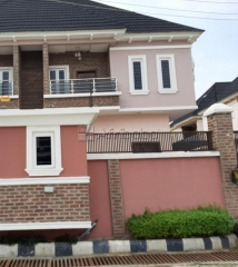 New 4 bedroom semi detached duplex with bq and solar inverter.