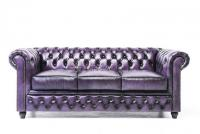 Chesterfield sofa in wash of purple 3 seat