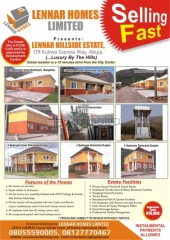 For sale are & 5 bedroom houses at lennar estate, abuja