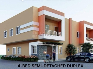 4 bedroom semi-detached duplex for sale, lennar estate, abuja (call or