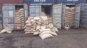 Nigeria custom auction  of rice 50kg and groundnut oil 25 litres