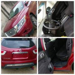 Your perfect ride - red foreign used nissan pathfinder 2013