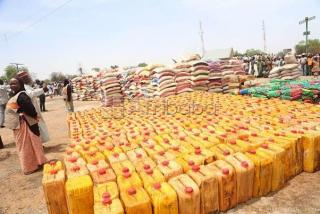 Order bags of rice and groundnut oil