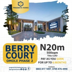 Ongoing promo at berry court, omole phase 2 extension