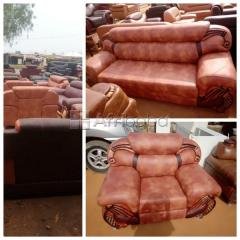 Get Your Quality Three Seater and A Seater Leather Chair (Negotiable)