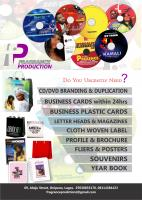CD/DVDs Printing, Handbills, Posters, Dome Stickers, Banners, Newsletter,