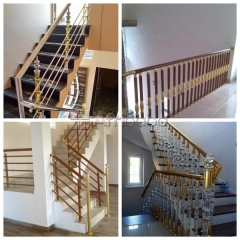 Get and install your  aluminum and plexiglas crystal handrail