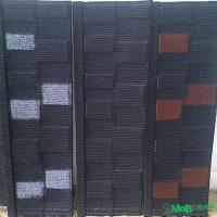 Pure stone coated step tile roofing sheet
