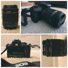 Canon 100d with 18-55mm lens,battery,strap,charger & lens cap