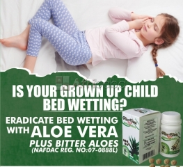 Stop your grown up's bed wetting with aloe vera