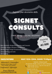 Presenting at signet consults, a 2 weeks online training  - join now