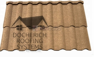 Docherich roofing systems black milano stone coated roof