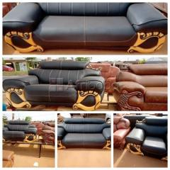 Order Your Quality Black Three Seater Leather Chair