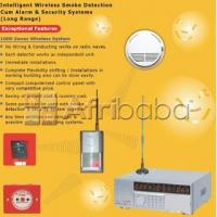 Wireless smoke detection and fire alarm system with sms alert
