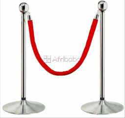 Crowd control stanchion Queue barrier poles, ropes at Alfim Ltd Lagos