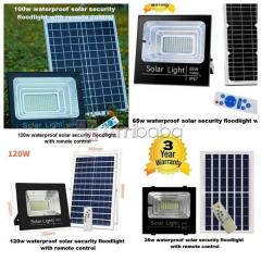 Super bright waterproof solar security flood lights with remote contro