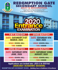 Register your child as we commence the 2020 entrance admission & exam