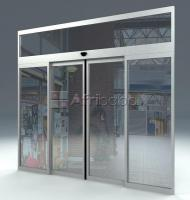 Automatic slid door operator with microwave motion sensor
