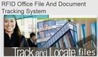 Rfid office file and document tracking system