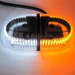 Dual color amber & white 240-led snow safety strobe light warning emergency